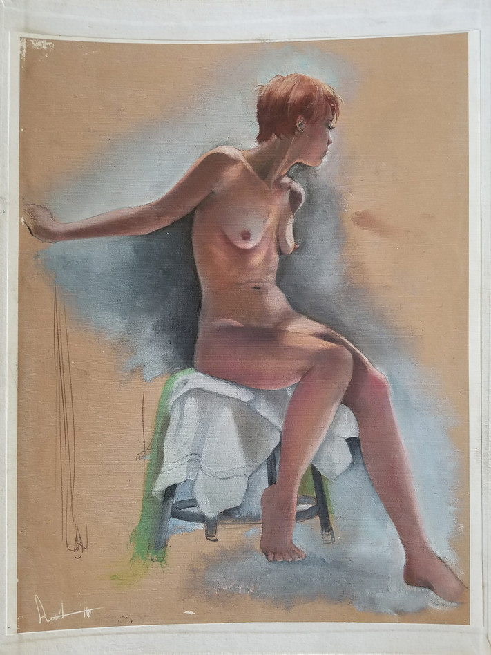 Figure Study w/oil Paint