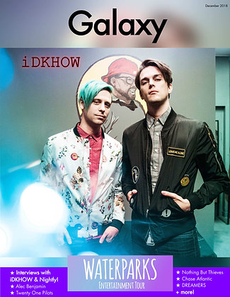 Galaxy Magazine December 2018: Waterparks Entertainment Tour (iDKHOW Cover)