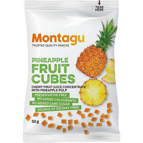 Montagu Ananas Fruits Cubes 50g