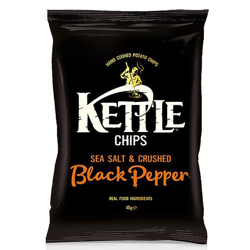KETTLE Chips Sel & Pcorns Noirs Broyés 40g