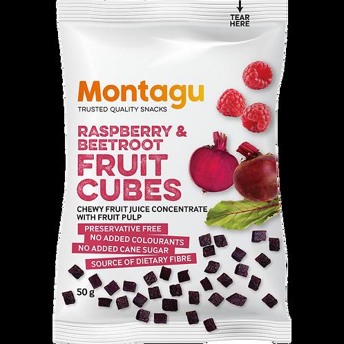 Montagu Framboise & Betterave Fruite Cubes 50g
