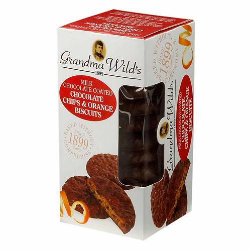 GRANDMA WILD'S MILK CHOCOLATE CHOCOLATE CHIP & ORANGE   150G
