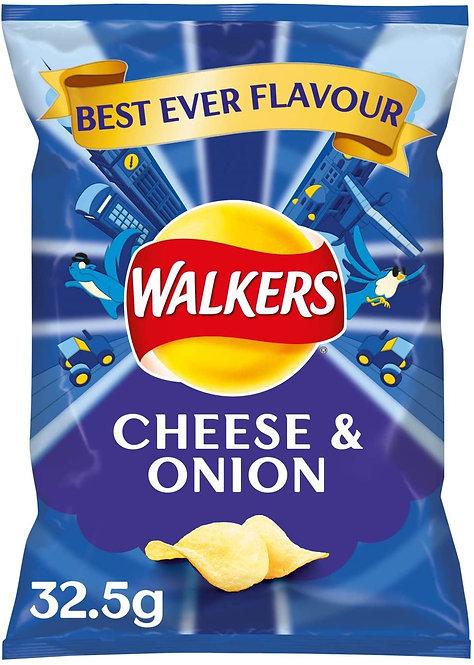 Walker Cheese & Onion Crisps | 32.5g