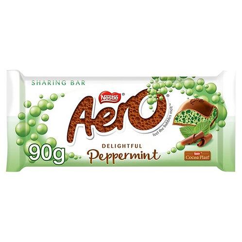 Barre de partage de chocolat à la menthe poivrée Aero 90g
