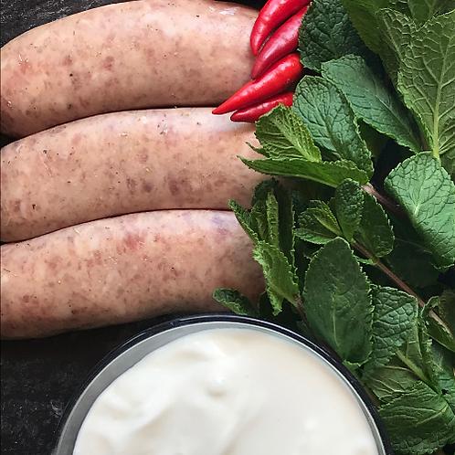 Lamb, Yogurt & Mint Sausage | 6 sausages per pack