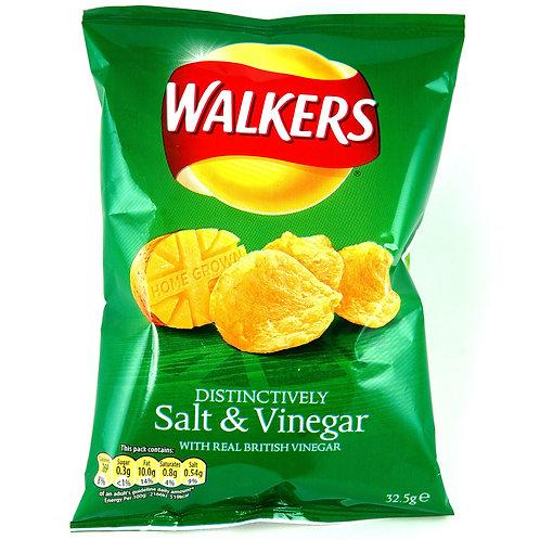Walker Salt & Vinigar Crisps | 32.5g