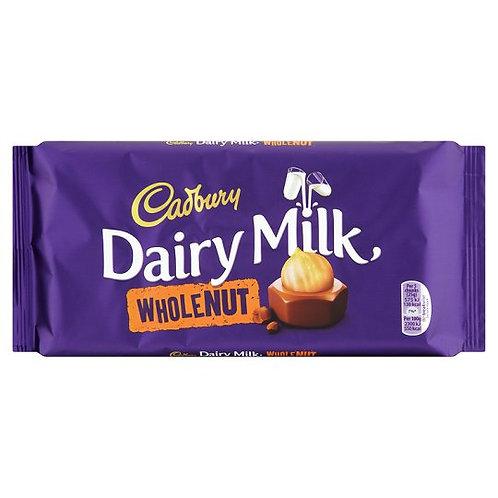 Barre de chocolat aux noix entières Cadbury Dairy Milk   200 g