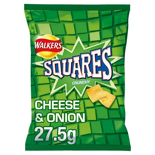 Walkers Cheese & Onion Squares 27.5G