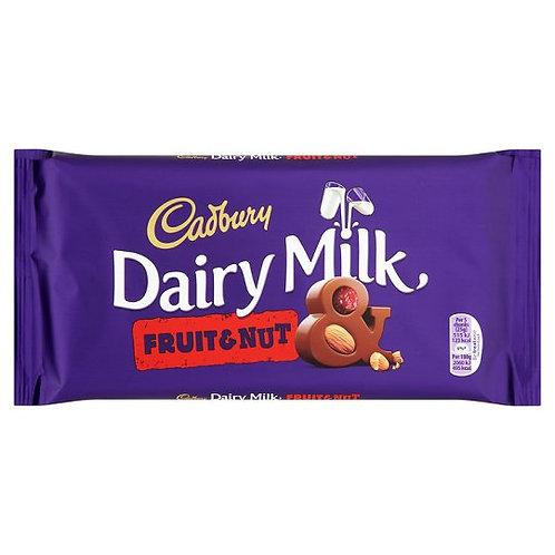 Barre de chocolat aux fruits et noix Cadbury Dairy Milk   200 g