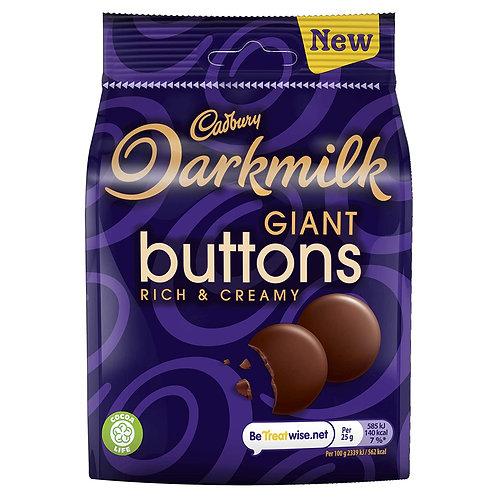 Cadbury Darkmilk Giant Buttons Sachet de Chocolat 90g