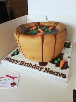 Yorkshire pudding chocolate cake