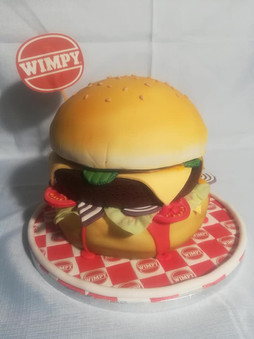 Wimpy Burger Cake