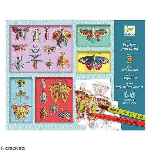 Feutres pinceaux cabinet de curiosités - DJECO