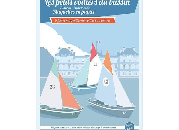 Maquettes en papier Les voiliers - SOPHIE ET MARTIN