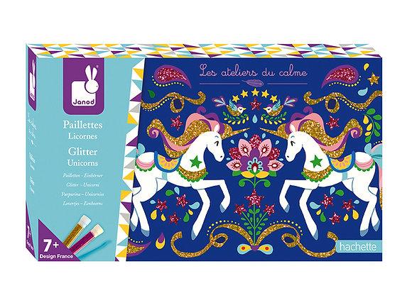 Paillette Licornes Les Ateliers du Calme Hachette - JANOD