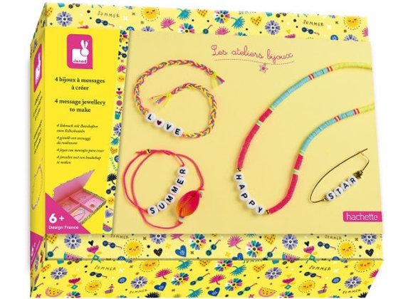 Kit créatif 4 bijoux à messages à créer - JANOD