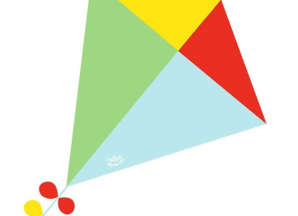 Cerf-volant Losange bleu, vert, rouge et jaune - VILAC