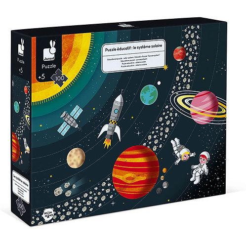 Puzzle éducatif 100 pièces le système solaire - JANOD