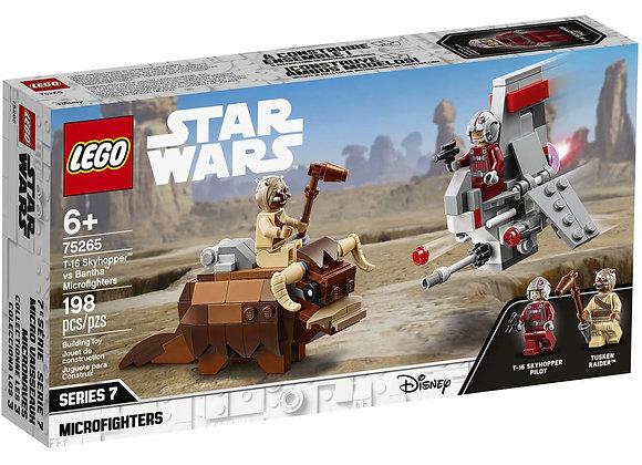 T-16 Skyhopper vs Bantha Microfighters - LEGO