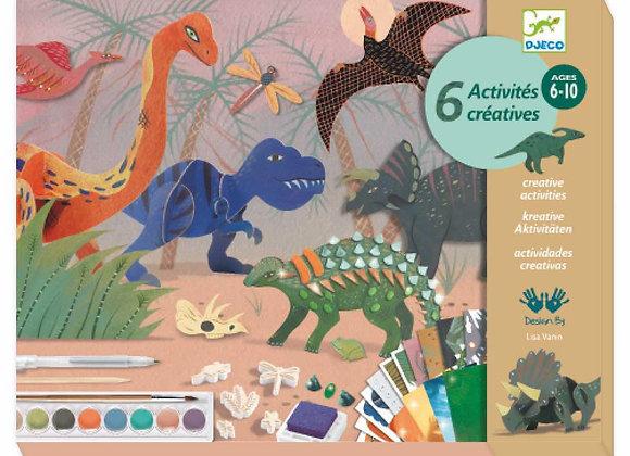 Coffret 6 activités créatives Dinosaures Dino Box - DJECO