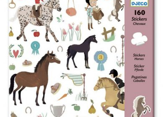160 stickers Chevaux - DJECO