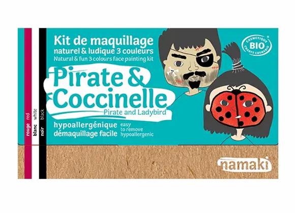 Kit de maquillage 3 couleurs Pirate & Coccinelle - NAMAKI