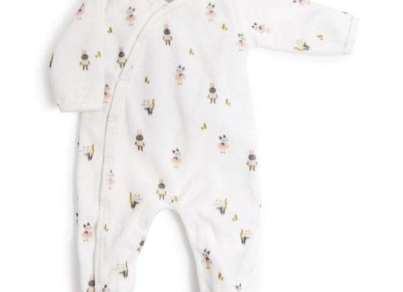 Pyjama bébé 12 mois velours après la pluie - MOULIN ROTY