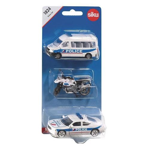 Set de 3 véhicules de police - SIKU