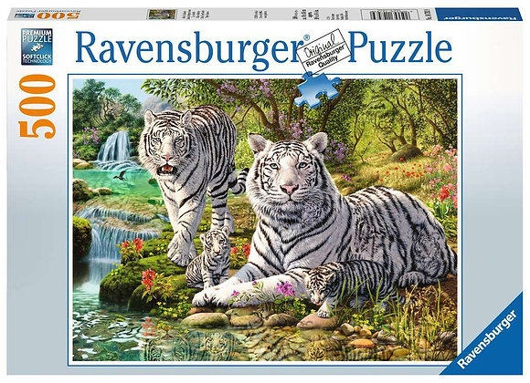 Famille tigres blancs 500 pièces - RAVENSBURGER