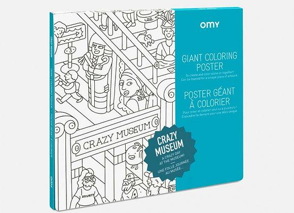 Poster géant à colorier Crazy Museum - OMY
