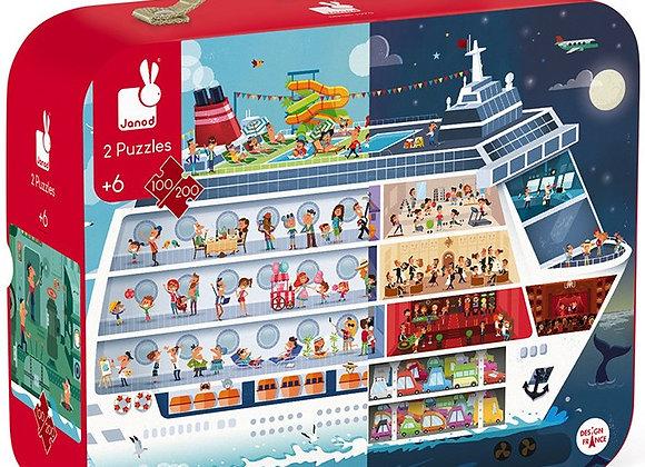 Puzzle Croisière 100 et 200 pièces - JANOD