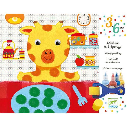 Peinture à l'éponge Girafe - DJECO