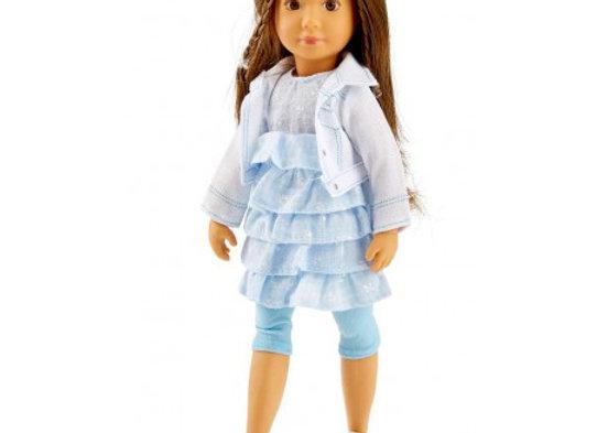 Poupée Sofia avec robe bleue - KRUSELINGS
