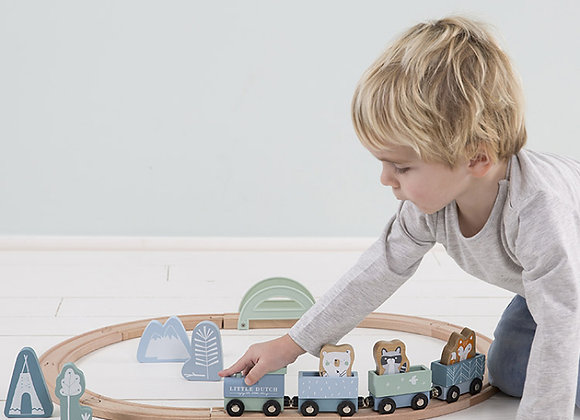 Circuit train en bois - LITTLE DUTCH