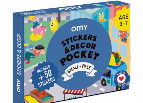 Coffret stickers et décor Pocket Petite ville - OMY