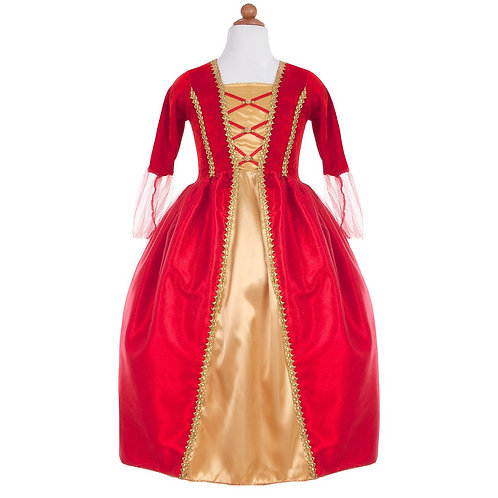 Robe royale rouge or 7/8 ans - GREAT PRETENDERS