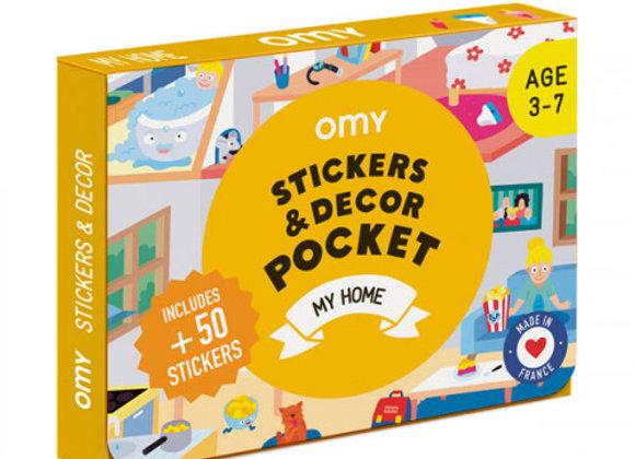 Coffret stickers et décor Pocket Ma maison - OMY