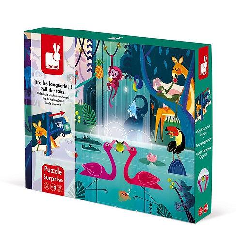 Puzzle 20 pièces Surprise Festin dans la jungle - JANOD