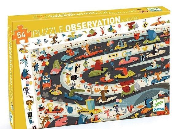 Puzzle 54 pièces Rallye automobile – DJECO