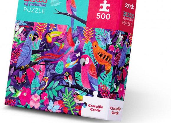 Puzzle 500 pièces Oiseaux de paradis - CROCODILE CREEK