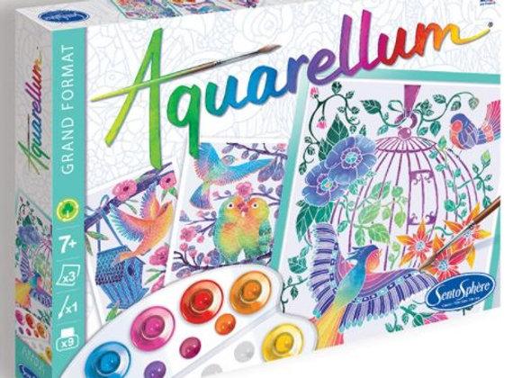 Aquarellum Grand format Les oiseaux s'envolent - SENTOSPHERE