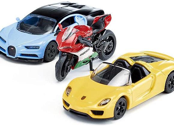 Coffret voiture de sport et moto - SIKU