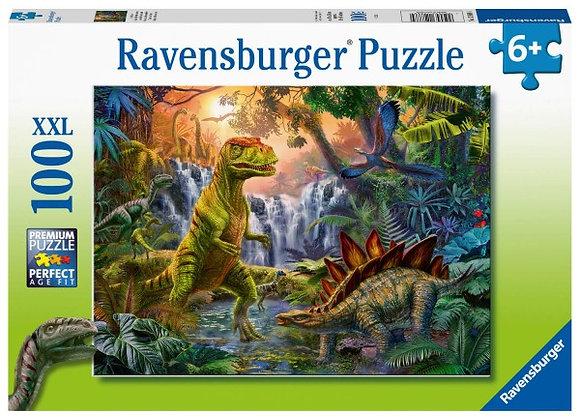 Puzzle XXL 100 pièces L'oasis des dinosaures - RAVENSBURGER