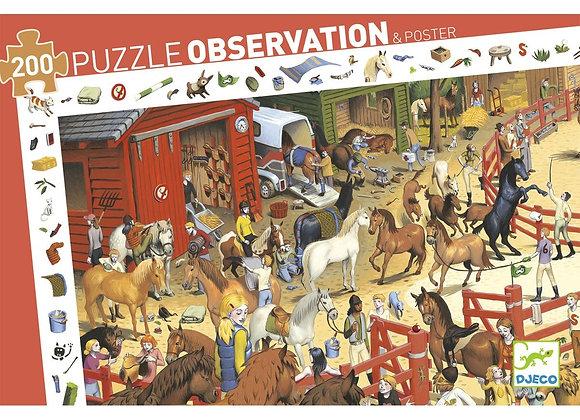 Puzzle Observation 200 pièces Equitation - DJECO