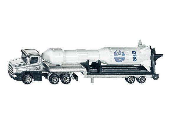 Camion à châssis surbaissé avec fusée - SIKU