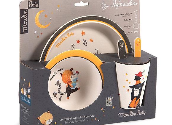 Set vaisselle Les Moustaches - MOULIN ROTY