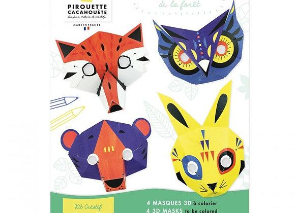 Kit créatif Masques de la forêt - PIROUETTE CACAHOUETE
