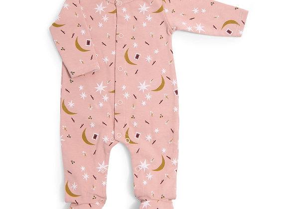 Pyjama bébé 6 mois jersey rose étoile Après la pluie - MOULIN ROTY