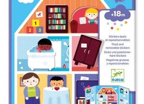 Stickers épais et repositionnables Maison - DJECO