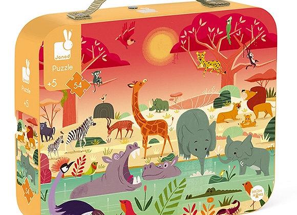 Puzzle 54 pièces Réserve animalière – JANOD